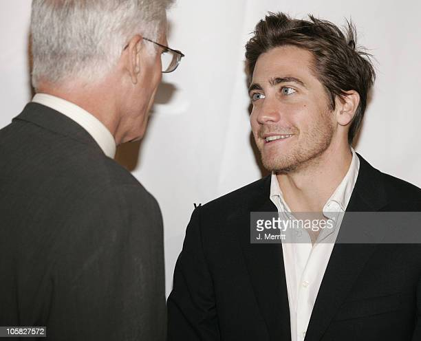 Ted Danson and Jake Gyllenhaal during Oceana's 2004 Partners Awards Gala Arrivals at The Escuire House in Beverly Hills California United States