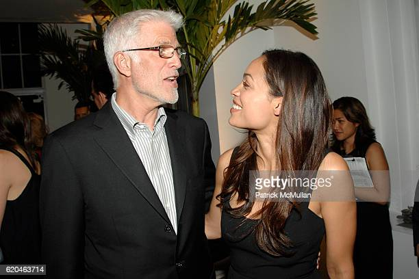 Ted Danson and Rosario Dawson attend LA MER and OCEANA Party for WORLD OCEAN DAY 2008 at 620 Loft Garden on June 4 2008 in New York City