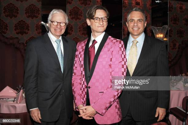 Ted Francavilla Hamish Bowles and Lew Leone attend Lighthouse International POSH Preview Benefit Dinner at Doubles Club on May 12 2009 in New York...
