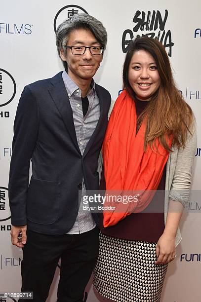 Ted Fu of Wong Fu Productions and Caty Truei attend the 'Shin Godzilla' premiere presented by Funimation Films at AMC Empire 25n2016 New York Comic...
