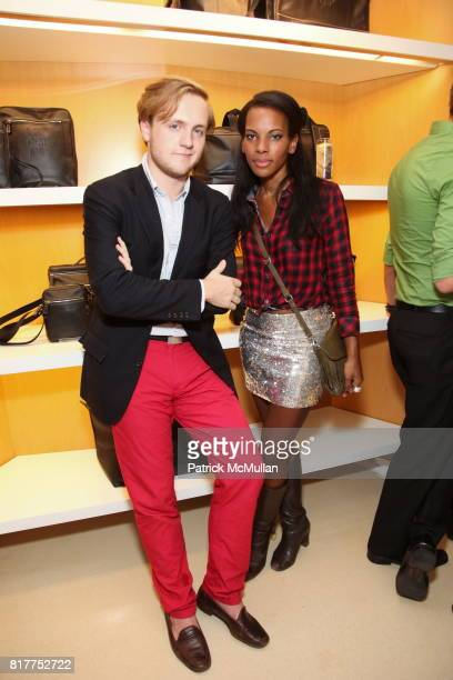 Ted Gushue and Sarah Kunst attend Party To Celebrate 'The Gorgeous Issue' of LOVE Magazine with LONGCHAMP at Longchamp La Maison Madison on October...