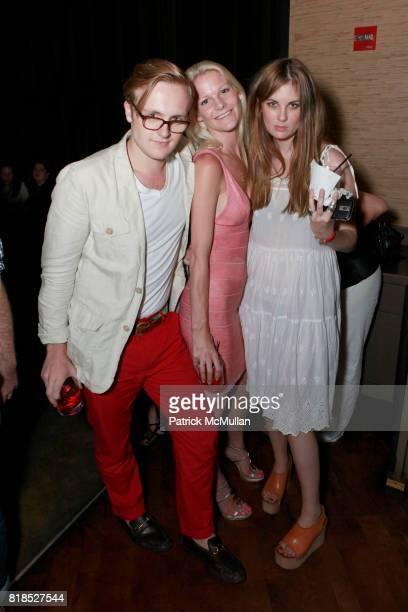 Ted Gushue Briana Swanson Lauren Powell attend CITTA Hosts Benefit for Women's Health Center In India at Chelsea Grand Hotel on August 17 2010 in New...