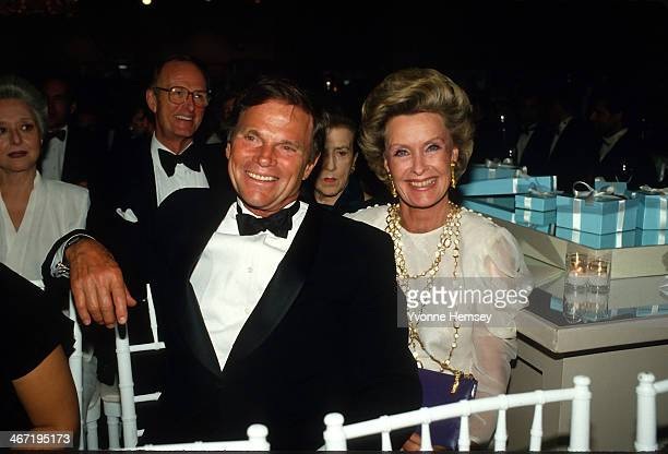 NEW YORK NY Ted Hartley and Dina Merrill are photographed at Tiffany's 150th anniversary event September 20 1987 in New York City