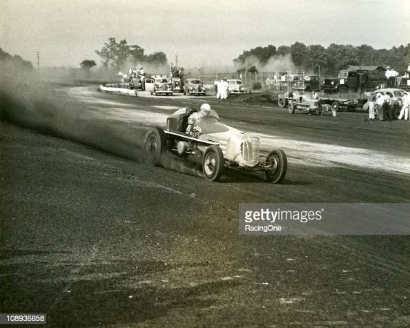 Ted Horn on his way to finishing third in the AAA Championship Car race at Langhorne Speedway