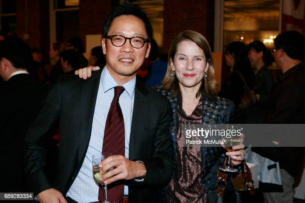 Ted Jung and Paola Antonelli attend MUSEUM OF MODERN ART and HYUNDAICARD Celebrate The Launch of DESTINATION SEOUL at MoMa Design Store on February...