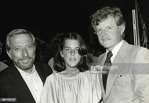 Ted Kennedy and Andy Williams with daughter circa 1978 in New York City