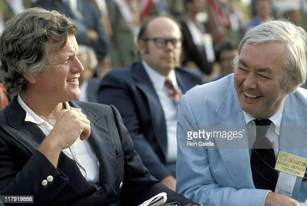 Ted Kennedy and Daniel Patrick Moynihan during 1979 Special Olympics at SUNY Brockport Campus in Brockport New York United States