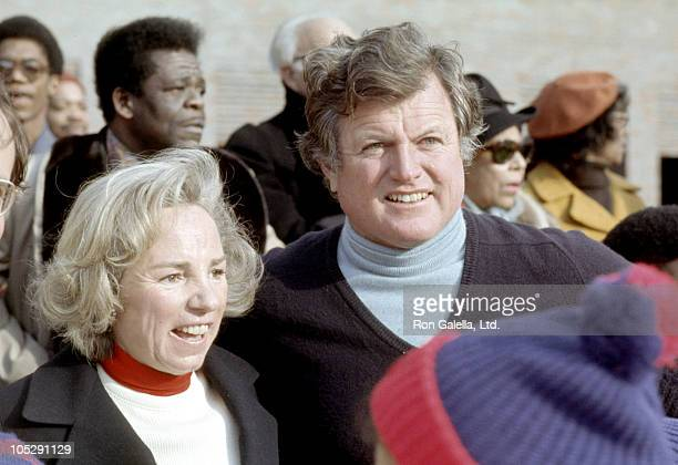 Ted Kennedy and Ethel Kennedy during Center in New York City Benefit and Party at Nathan's at Bedford Styvesant Restaurant in New York City New York...