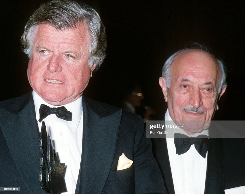Ted Kennedy and Simon Wiesenthal during Simon Wiesenthal Center Honors Senator Ted Kennedy at Marriott Marquis Hotel in New York City, New York, United States.