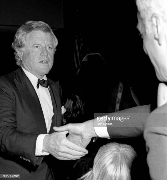 Ted Kennedy attends Simon Wiesenthal Center Honors Gala on October 26 1987 at the Marriott Marquis Hotel in New York City
