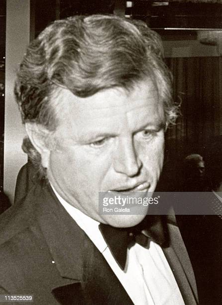 Ted Kennedy during Dinner with President Jimmy Carter at Sheraton Centre in Washington DC United States