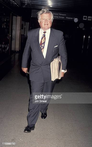 Ted Kennedy during Ted Kennedy Departing LAX For Washington DC April 15 1993 at Los Angeles International Airport in Los Angeles California United...