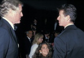 Ted Kennedy Kelly Klein and Calvin Klein during Simon Wiesenthal Center Honors Senator Ted Kennedy at Marriott Marquis Hotel in New York City New...