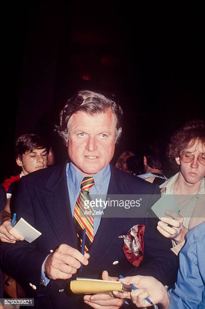 Ted Kennedy signing autographs circa 1970 New York