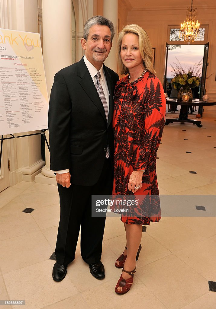 <a gi-track='captionPersonalityLinkClicked' href=/galleries/search?phrase=Ted+Leonsis&family=editorial&specificpeople=2248725 ng-click='$event.stopPropagation()'>Ted Leonsis</a> and Lynn Leonsis, Owners of the Washington Capitals, Washington Wizards, and the Verizon Center host a reception celebrating the 2013 Audi Best Buddies Challenge: Washington, DC on October 18, 2013 in Potomac, Maryland.