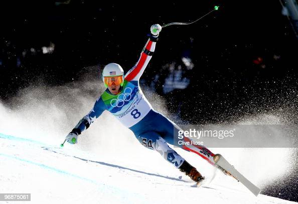 Ted Ligety of the United States competes in the men's alpine skiing SuperG on day 8 of the Vancouver 2010 Winter Olympics at Whistler Creekside on...