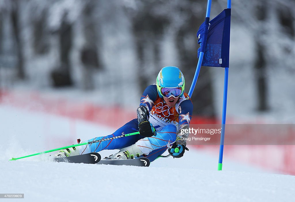 <a gi-track='captionPersonalityLinkClicked' href=/galleries/search?phrase=Ted+Ligety&family=editorial&specificpeople=580537 ng-click='$event.stopPropagation()'>Ted Ligety</a> of the United States in action during the Alpine Skiing Men's Giant Slalom on day 12 of the Sochi 2014 Winter Olympics at Rosa Khutor Alpine Center on February 19, 2014 in Sochi, Russia.