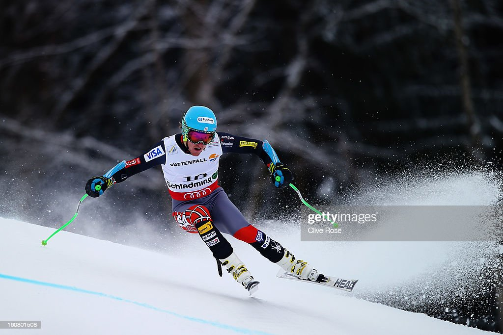 <a gi-track='captionPersonalityLinkClicked' href=/galleries/search?phrase=Ted+Ligety&family=editorial&specificpeople=580537 ng-click='$event.stopPropagation()'>Ted Ligety</a> of the United States of America competes in the Men's Super G event during the Alpine FIS Ski World Championships on February 6, 2013 in Schladming, Austria.