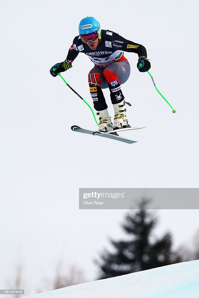 Ted Ligety of the United States of America skis in the downhill section of the Men's Super Combined during the Alpine FIS Ski World Championships on February 11, 2013 in Schladming, Austria.