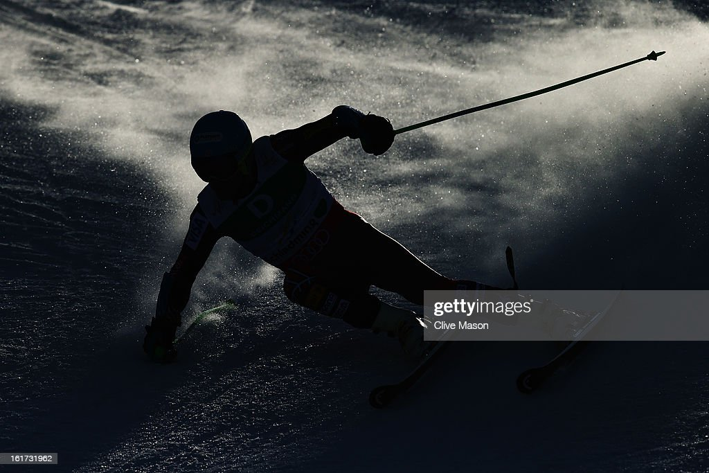 Ted Ligety of the United States of America skis in the Men's Giant Slalom during the Alpine FIS Ski World Championships on February 15, 2013 in Schladming, Austria.