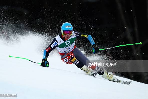 Ted Ligety of the United States of America skis on his way to winning the Men's Giant Slalom during the Alpine FIS Ski World Championships on...