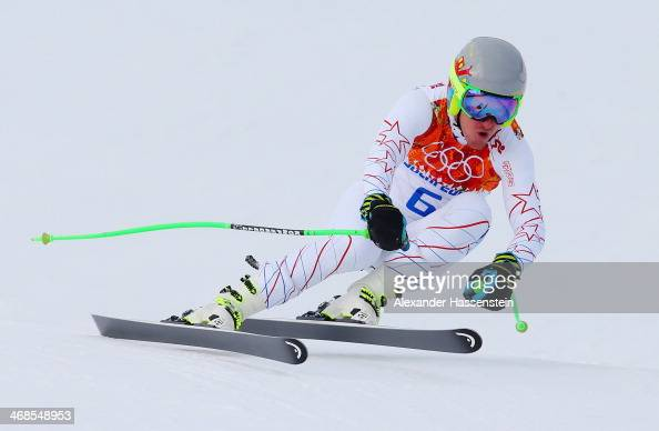 Ted Ligety of the United States skis during training for the Men's Alpine Skiing on day 4 of the Sochi 2014 Winter Olympics at Rosa Khutor Alpine...
