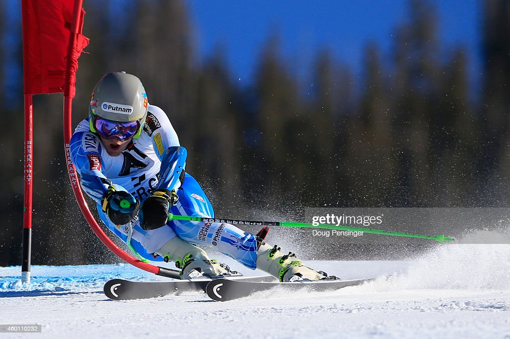<a gi-track='captionPersonalityLinkClicked' href=/galleries/search?phrase=Ted+Ligety&family=editorial&specificpeople=580537 ng-click='$event.stopPropagation()'>Ted Ligety</a> of the United States skis the second run en route to winning the Audi FIS World Cup Men's Giant Slalom Race on December 7, 2014 in Beaver Creek, Colorado.