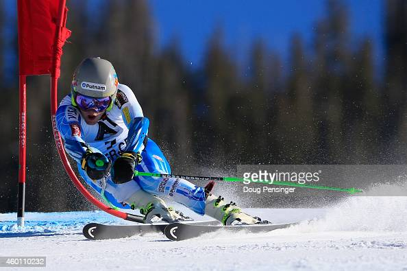 Ted Ligety of the United States skis the second run en route to winning the Audi FIS World Cup Men's Giant Slalom Race on December 7 2014 in Beaver...