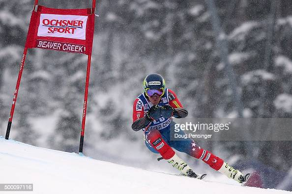 Ted Ligety of the United States skis to second place in the men's Super G at the 2015 Audi FIS Ski World Cup on the Birds of Prey on December 5 2015...