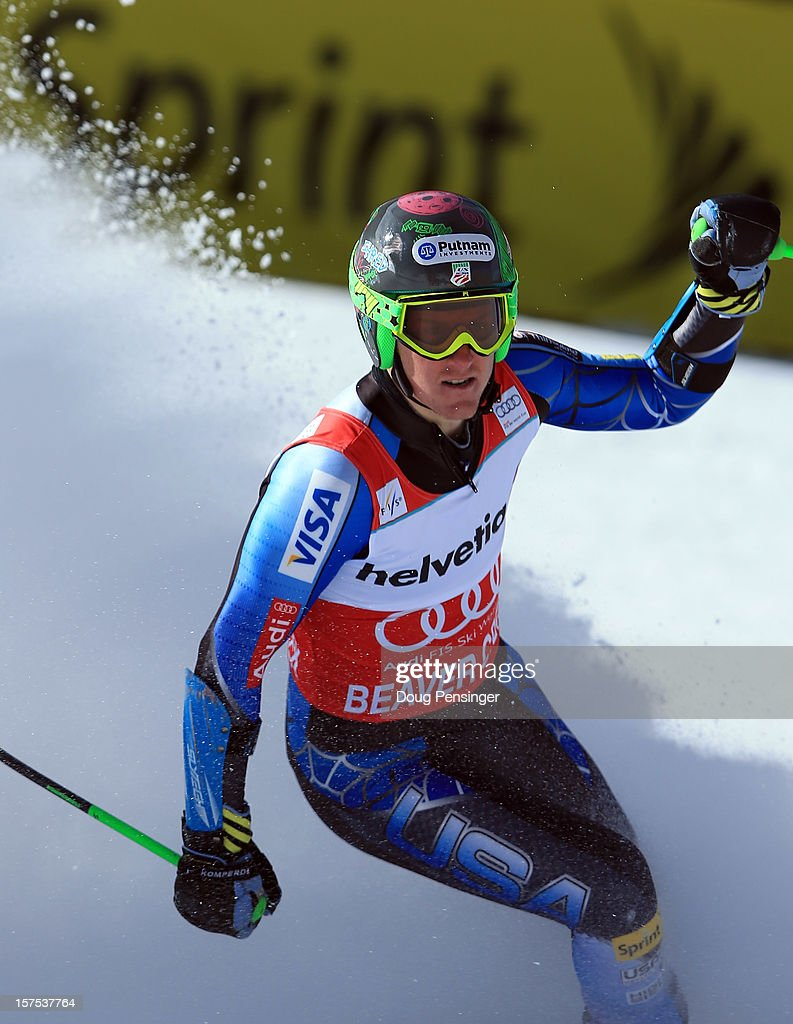 <a gi-track='captionPersonalityLinkClicked' href=/galleries/search?phrase=Ted+Ligety&family=editorial&specificpeople=580537 ng-click='$event.stopPropagation()'>Ted Ligety</a> of the USA celebrates as he wins the men's Giant Slalom at the Audi FIS World Cup on December 2, 2012 in Beaver Creek, Colorado.