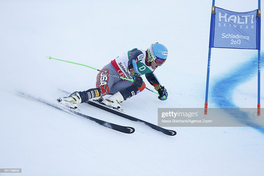Ted Ligety of the USA competes during the Audi FIS Alpine Ski World Championships Men's Giant slalom on February 15, 2013 in Schladming, Austria.