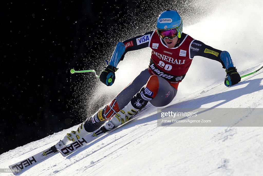 Ted Ligety of the USA competes during the Audi FIS Alpine Ski World Cup Men's SuperG on March 3, 2013 in Kvitfjell, Norway.