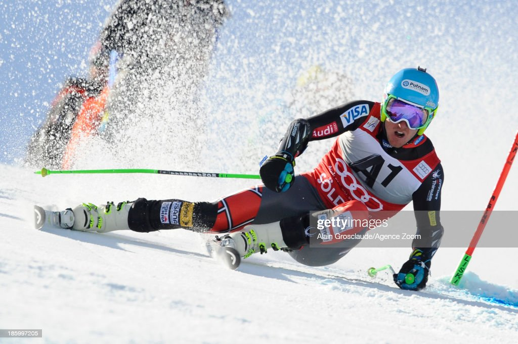 Ted Ligety of the USA competes during the Audi FIS Alpine Ski World Cup Men's Giant Slalom on October 27 2013 in Soelden Austria