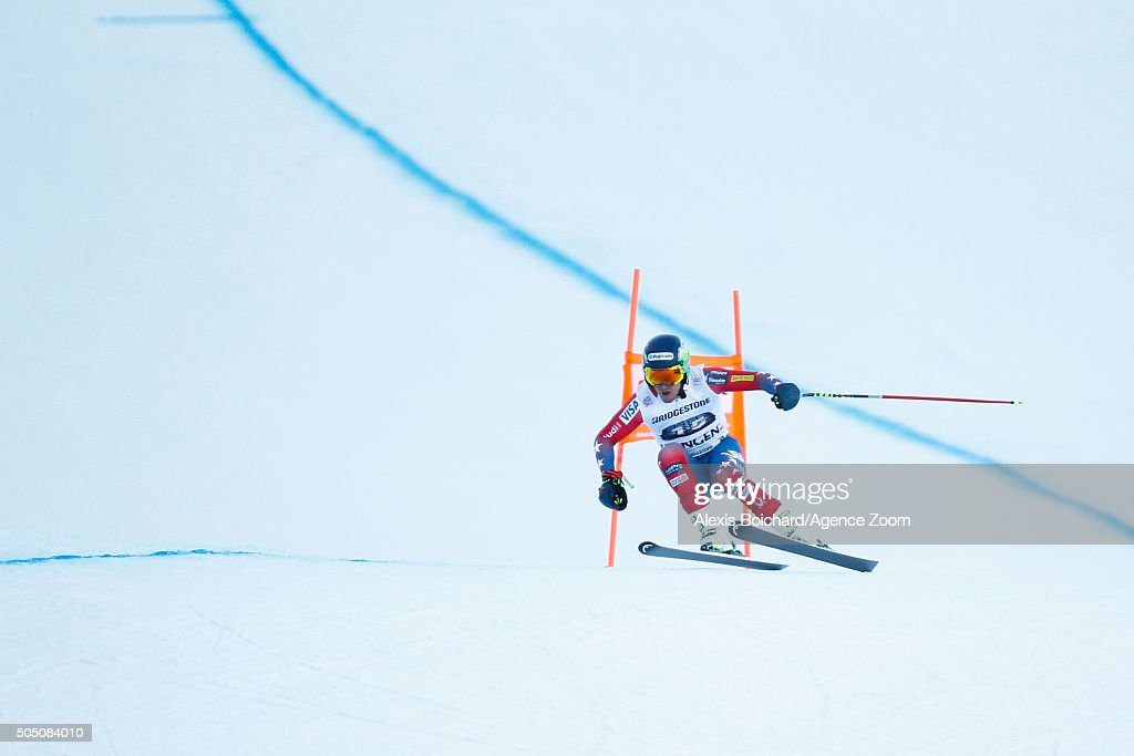 Ted Ligety of the USA competes during the Audi FIS Alpine Ski World Cup Men's Super Combined on January 15 2016 in Wengen Switzerland