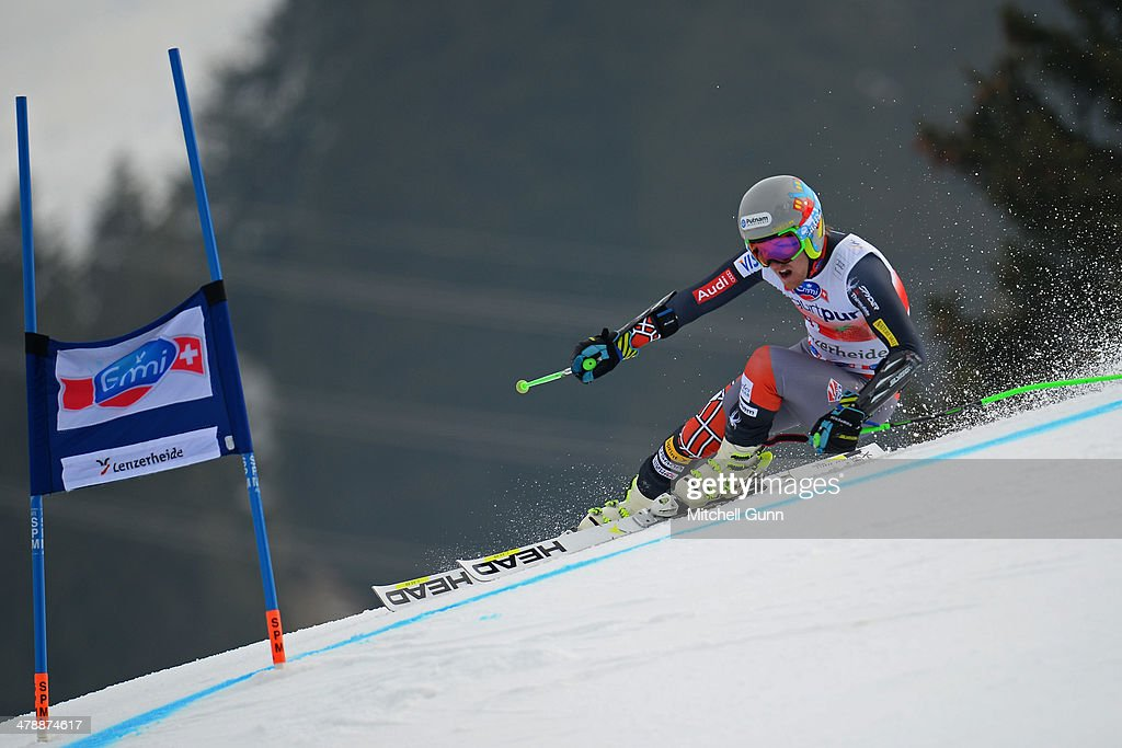 Ted Ligety of The USA competes in the Audi FIS Alpine Skiing World Cup Finals Giant Slalom on March 15, 2014 in Lenzerheide, Switzerland.