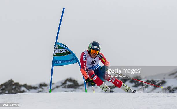 Ted Ligety of The USA during the Audi FIS Ski World Cup men's giant slalom race on the Rettenbach Glacier on 25 October 2015 in Soelden Austria