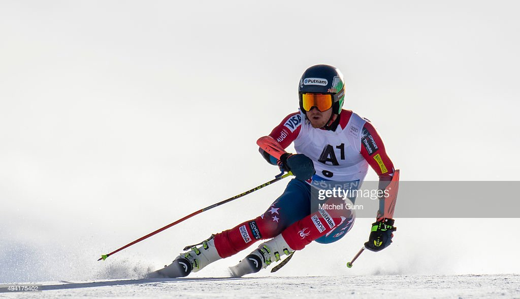 Ted Ligety of The USA during the Audi FIS Ski World Cup men's giant slalom race on the Rettenbach Glacier on October 25 2015 in Solelden Austria