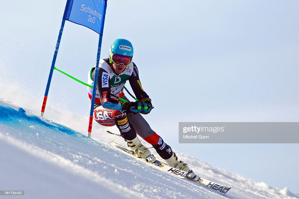Ted Ligety of The USA races down the course whilst competing in the Alpine FIS Ski World Championships giant slalom race on February 15, 2013 in Schladming, Austria,