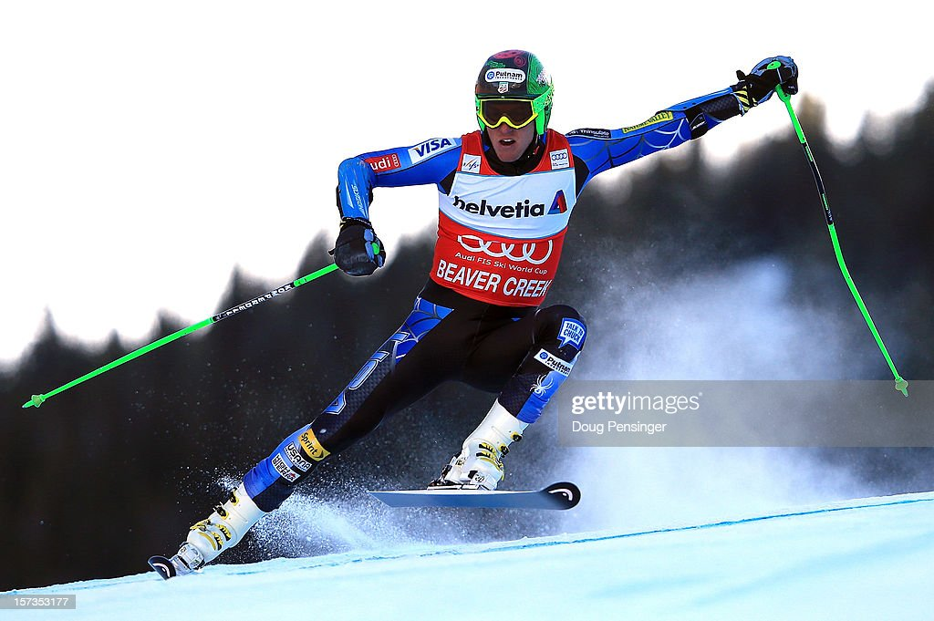 <a gi-track='captionPersonalityLinkClicked' href=/galleries/search?phrase=Ted+Ligety&family=editorial&specificpeople=580537 ng-click='$event.stopPropagation()'>Ted Ligety</a> of the USA skis the first run of the men's Giant Slalom at the Audi FIS World Cup on December 2, 2012 in Beaver Creek, Colorado.