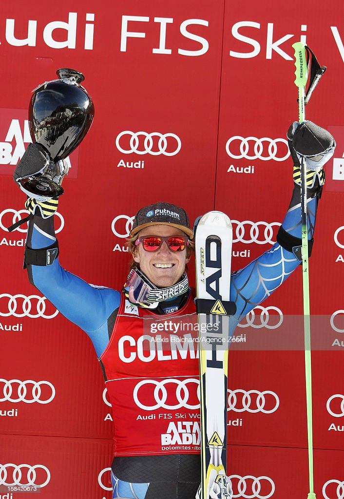 <a gi-track='captionPersonalityLinkClicked' href=/galleries/search?phrase=Ted+Ligety&family=editorial&specificpeople=580537 ng-click='$event.stopPropagation()'>Ted Ligety</a> of the USA takes 1st place during the Audi FIS Alpine Ski World Cup Men's Giant Slalom on December 16, 2012 in Alta Badia, Italy.