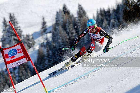 Ted Ligety of the USA takes 1st place during the Audi FIS Alpine Ski World Cup Men's Giant Slalom on March 16 2013 in Lenzerheide Switzerland