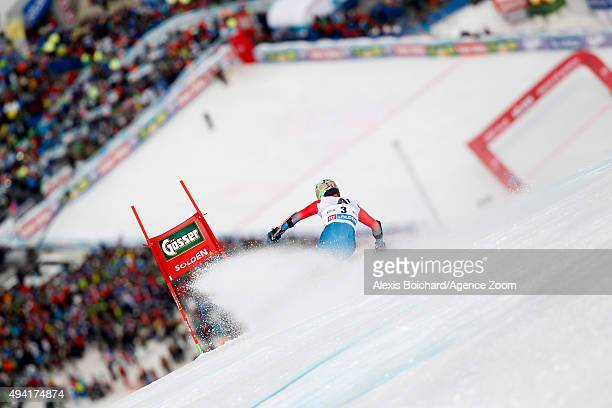 Ted Ligety of the USA takes 1st place during the Audi FIS Alpine Ski World Cup Men's Giant Slalom on October 25 2015 in Soelden Austria