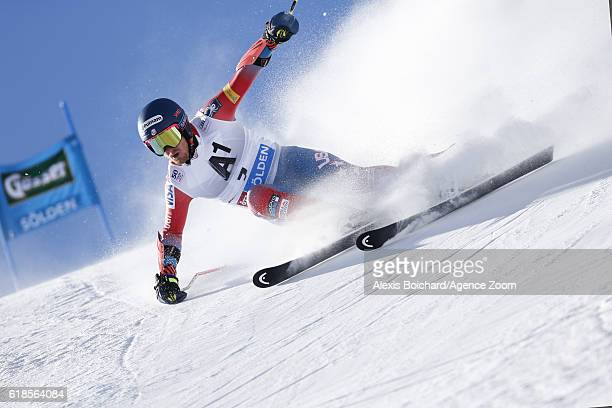 Ted Ligety of USA in action during the Audi FIS Alpine Ski World Cup Men's Giant Slalom on October 23 2016 in Soelden Austria