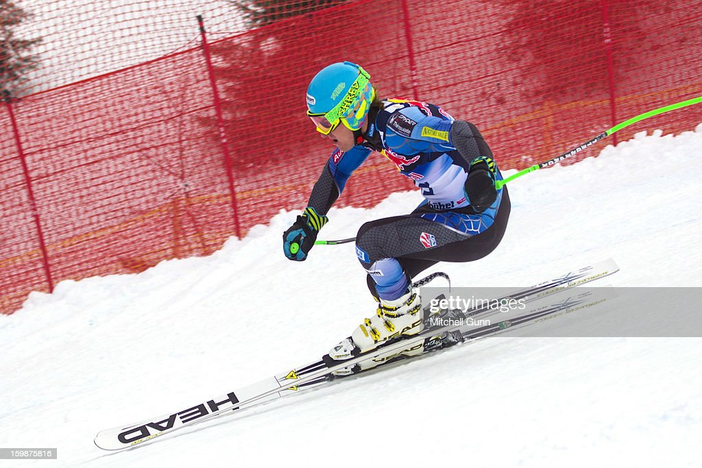 <a gi-track='captionPersonalityLinkClicked' href=/galleries/search?phrase=Ted+Ligety&family=editorial&specificpeople=580537 ng-click='$event.stopPropagation()'>Ted Ligety</a> of USA races down the Hahnenkamm Race Course during the Audi FIS Alpine Ski World Cup Downhill first official training session on January 22, 2013 in Kitzbuhel, Austria,
