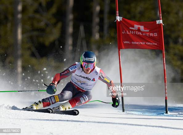 Ted Ligety USA rounds a gate during the Men's Giant Slalom 2nd run at the FIS Alpine World Ski Championships at Beaver Creek Resort February 13 2015...