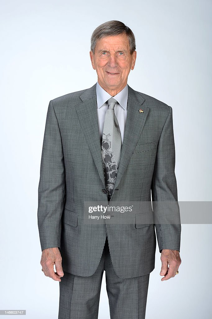 Ted Lindsay, former player of the Detroit Red Wings, poses for portraits before the 2012 NHL Awards at the Encore Theater at the Wynn Las Vegas on June 20, 2012 in Las Vegas, Nevada.