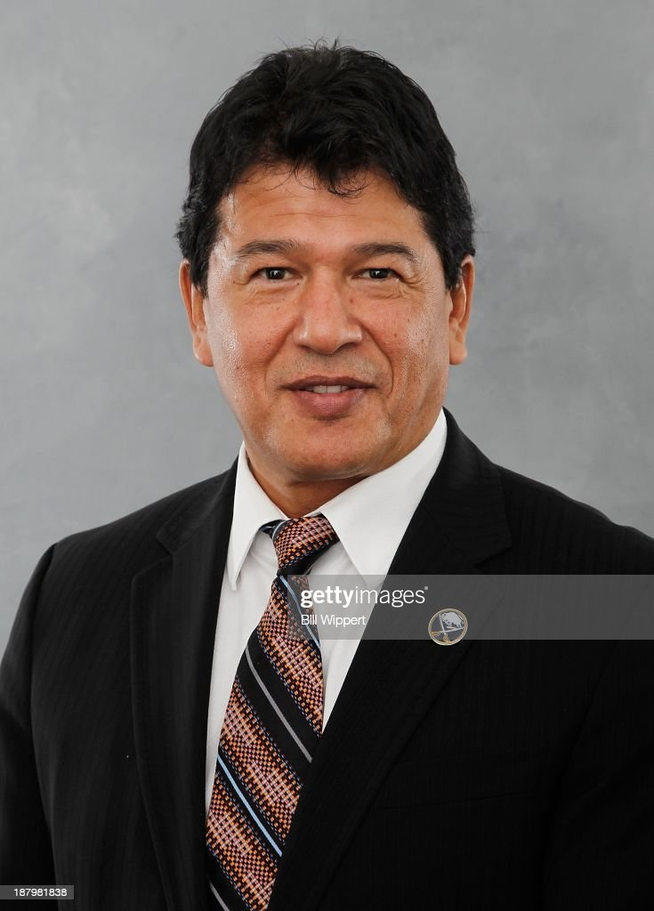 <a gi-track='captionPersonalityLinkClicked' href=/galleries/search?phrase=Ted+Nolan&family=editorial&specificpeople=540388 ng-click='$event.stopPropagation()'>Ted Nolan</a> poses for his official headshot after being named interim head coach of the Buffalo Sabres on November 13, 2013 at the First Niagara Center in Buffalo, New York.