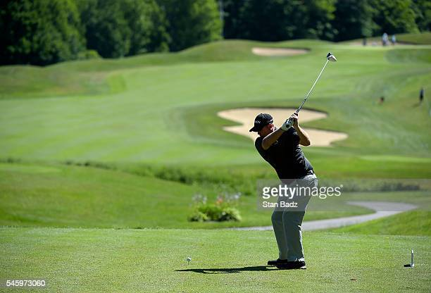 Ted Potter Jr hits a drive on the sixth hole during the final round of the Webcom Tour LECOM Health Challenge at Peek'n Peak Rst Upper Course on July...