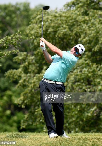 Ted Potter Jr hits a drive on the third hole during the final round of the Webcom Tour RustOleum Championship at Ivanhoe Club on June 11 2017 in...