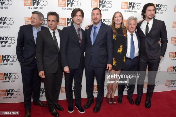 Ted Sarandos Ben Stiller Noah Baumbach Adam Sandler Elizabeth Marvel Dustin Hoffman and Adam Driver attend the New York Film Festival premiere of The...